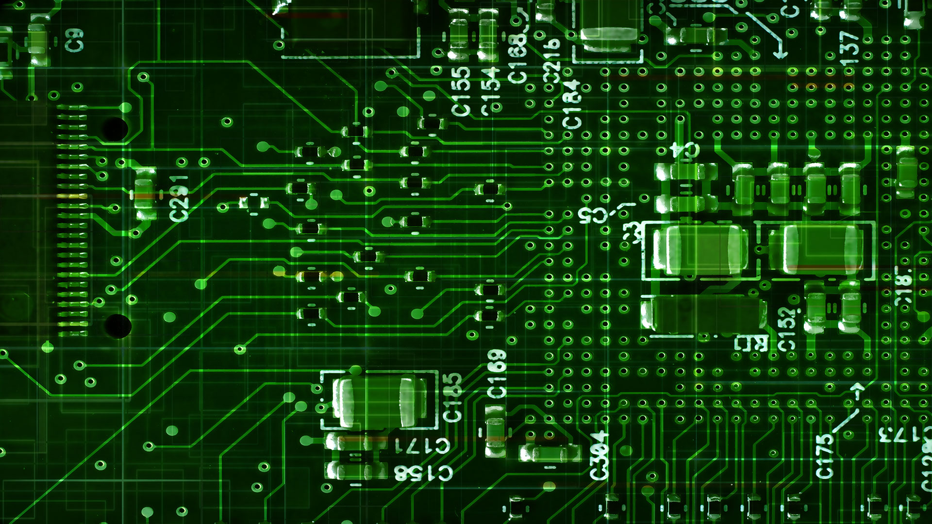 green printed circuit board SMT & SPI - Automated AOI